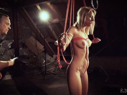 Hot blonde in submission gets spanked and punished as a naughty bdsm slave