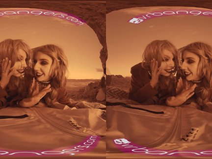 VRBangers Two hot blonde babes fucking hard on mars parody threesome