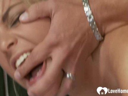 Hot blonde babe fucked in a bathtub