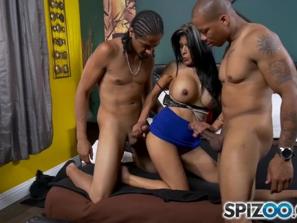 Spizoo - Milf Gabby Quinteros is punished by Two BBC, big boobs & big booty