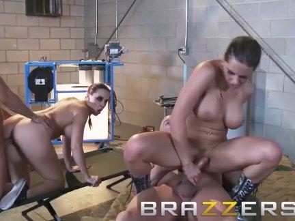 BRAZZERS -  Sex charged sex machines Chanel Preston & Rachel RoXXX have one
