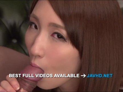 Rikka Anna amazing asian blowjob with sensual  - More at javhd net