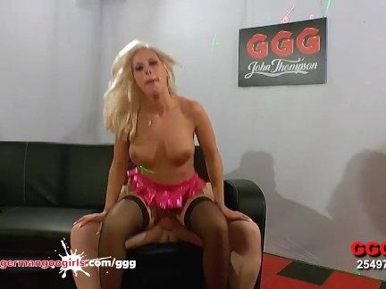 Gorgeous Blonde babe Fucked hard - German Goo Girls
