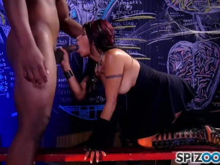 Hot latin Gabby Quinteros is punished by a black monster cock - Spizoo