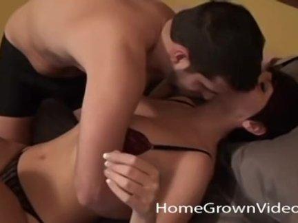 Big Tit Amateur with Hairy Pussy Fucks Her Boyfriend