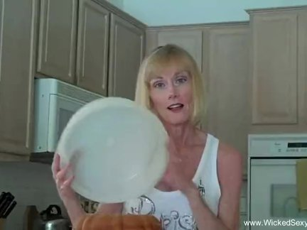Naughty MILF Gets a Load of Cum