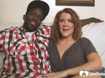 Horny Babe Likes a Big Black Cock