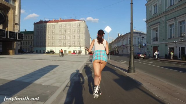 Jeny Smith  bottomless flashing in public - sex video