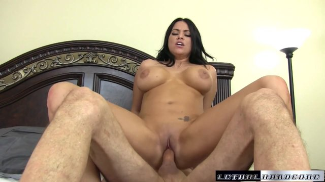 Lacey asks her stepbrother to cum inside her pussy - sex video