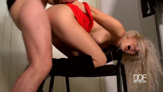 The Locker Rocker - Bound Submissive Blonde Ass Fucked - sex video