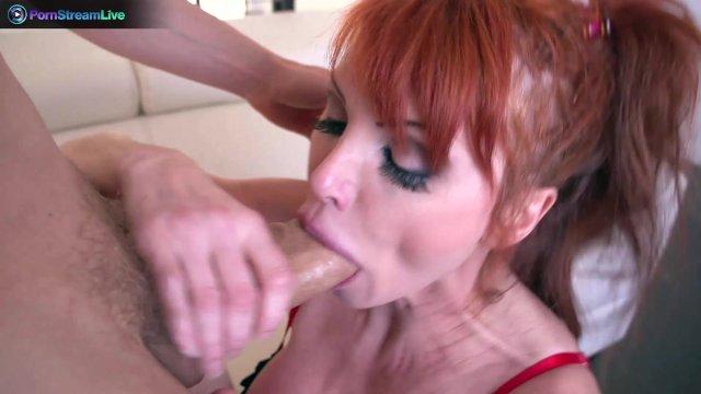 Busty redhead Taylor Vayne getting a hard fuck