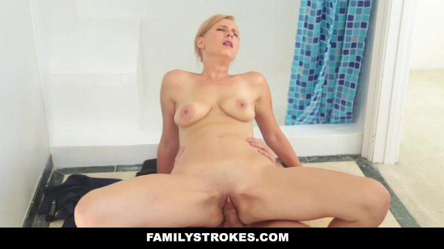 FamilyStrokes - Hot Milf Sucks Off Step-Son - sex video