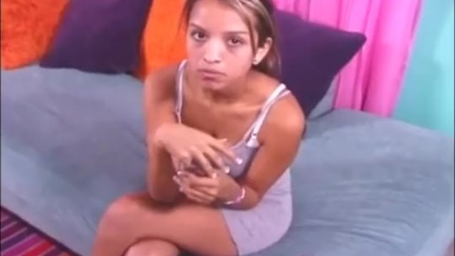 Cute Latina topless handjob