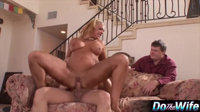 Blonde wife loves fucking a porn stud - sex video