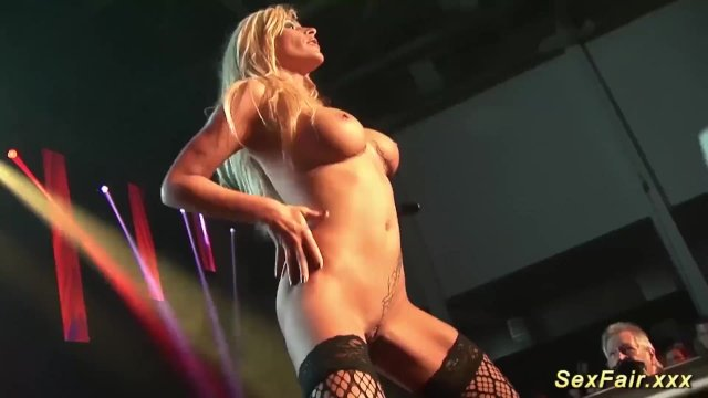 my busty german stepmom naked on stage - sex video