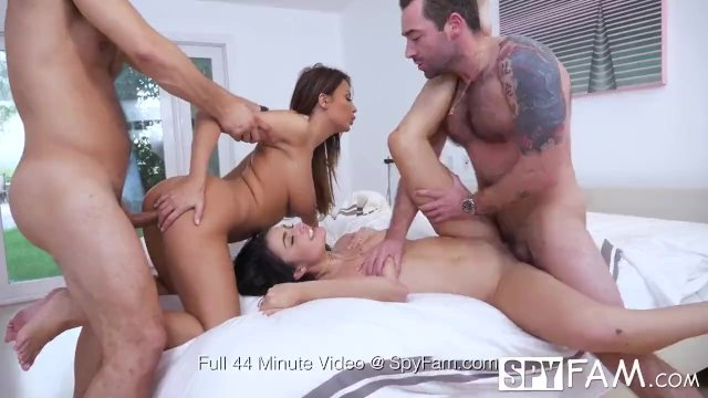 Spyfam Thanksgiving fuckfest with Anissa Kate and Adria Rae - sex video