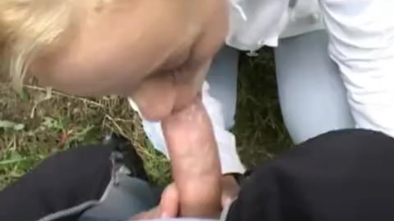 Outdoor fun with a blonde