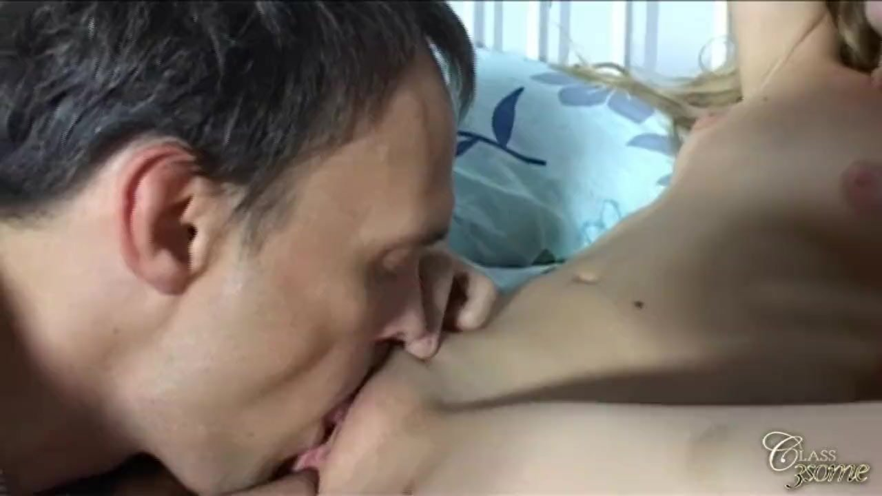 Three sexy blonde having fun with one cock