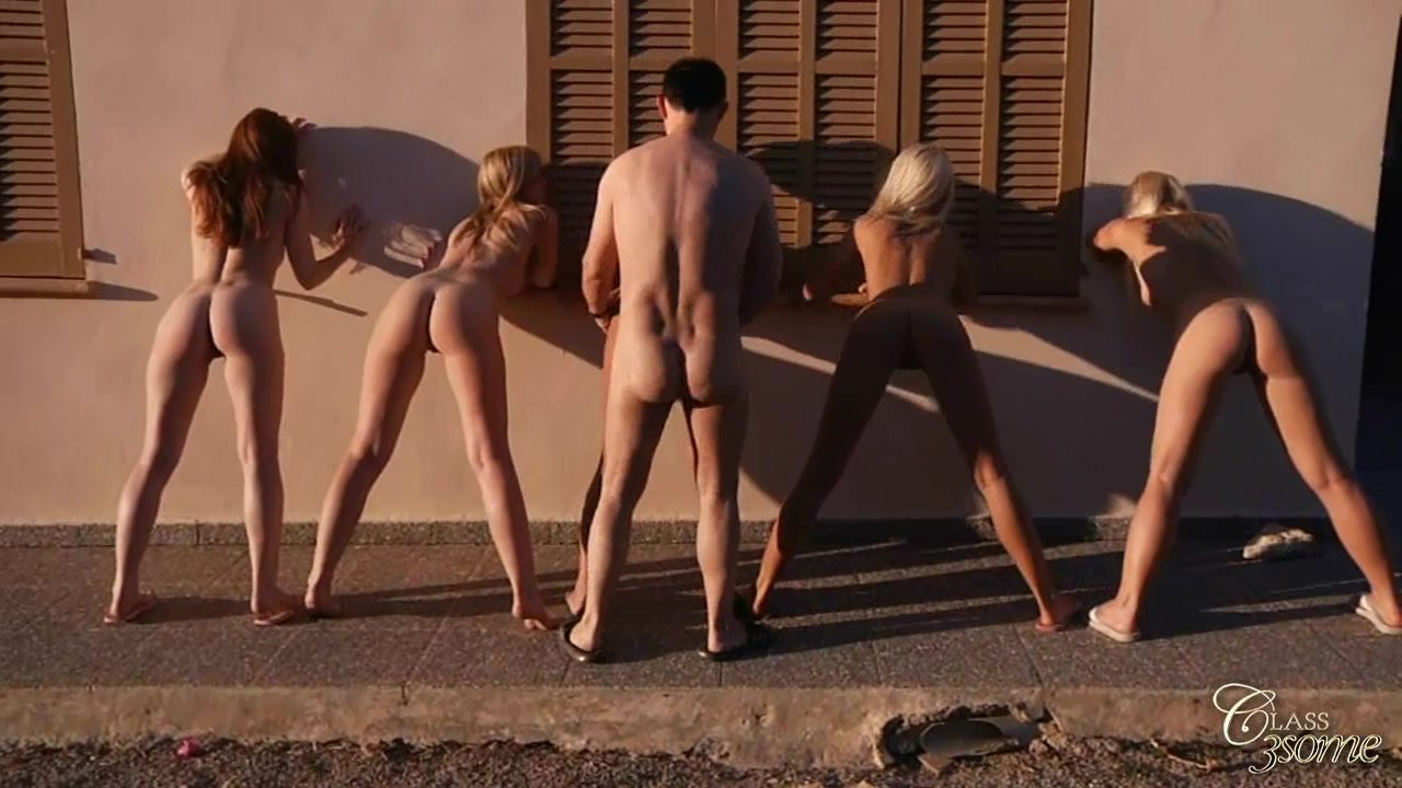 Exciting group sex with exquisite babes