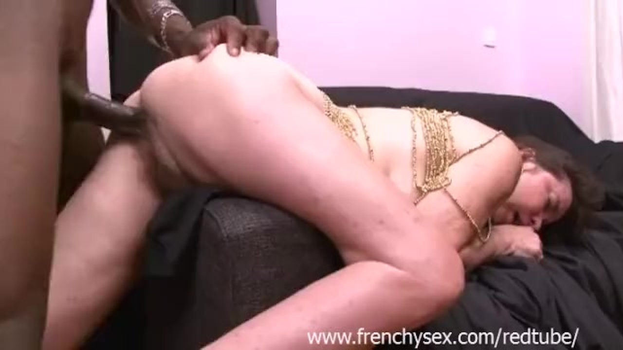 French mature love facials with BBC