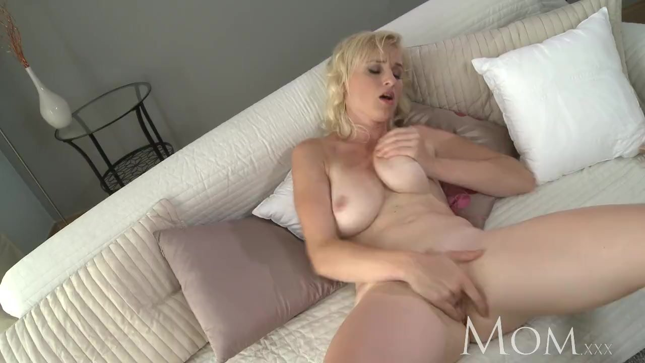 MOM Blonde MILF lets us watch her cum