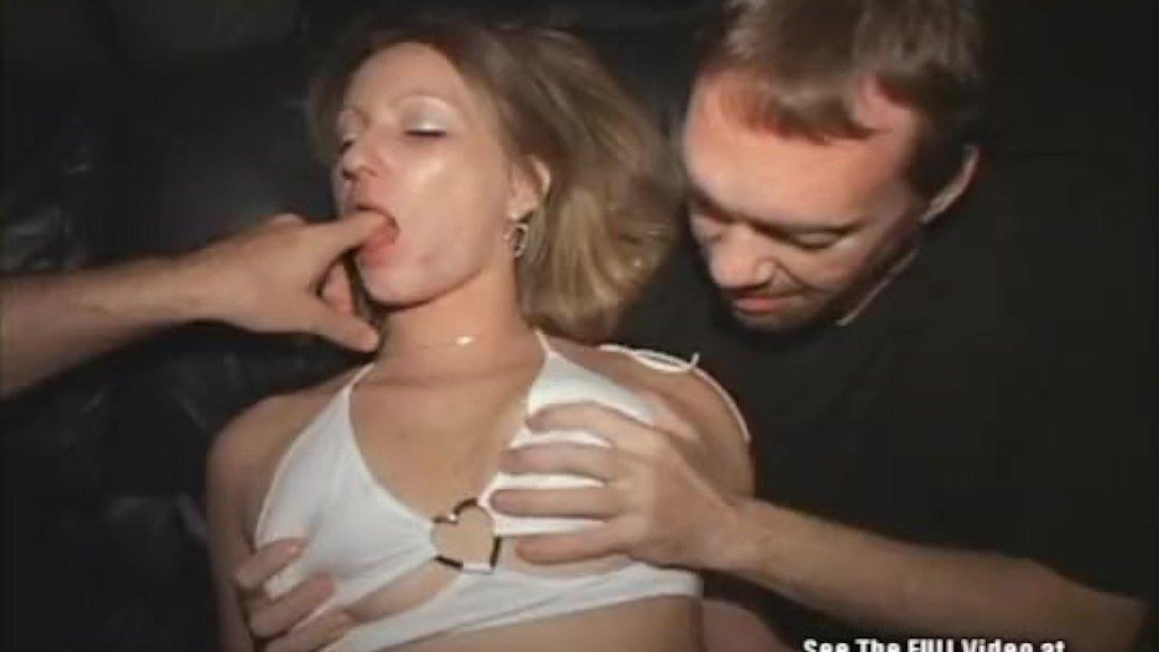 Hot brunette shows sexy white lingerie