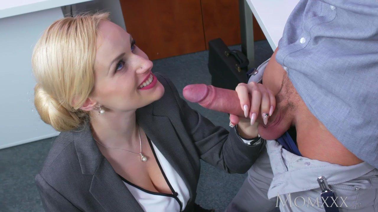 Mom Blonde Big Tits Milf Sucks Massive Geek Cock Before -5269