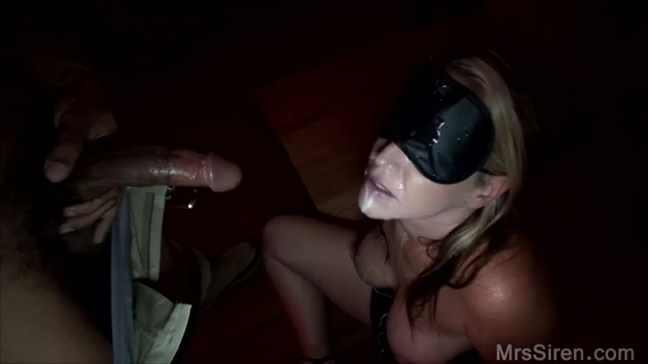 blindfolded blowbang