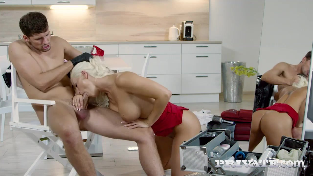 Blanche Bradburry takes hardcore anal and sticky cumshot