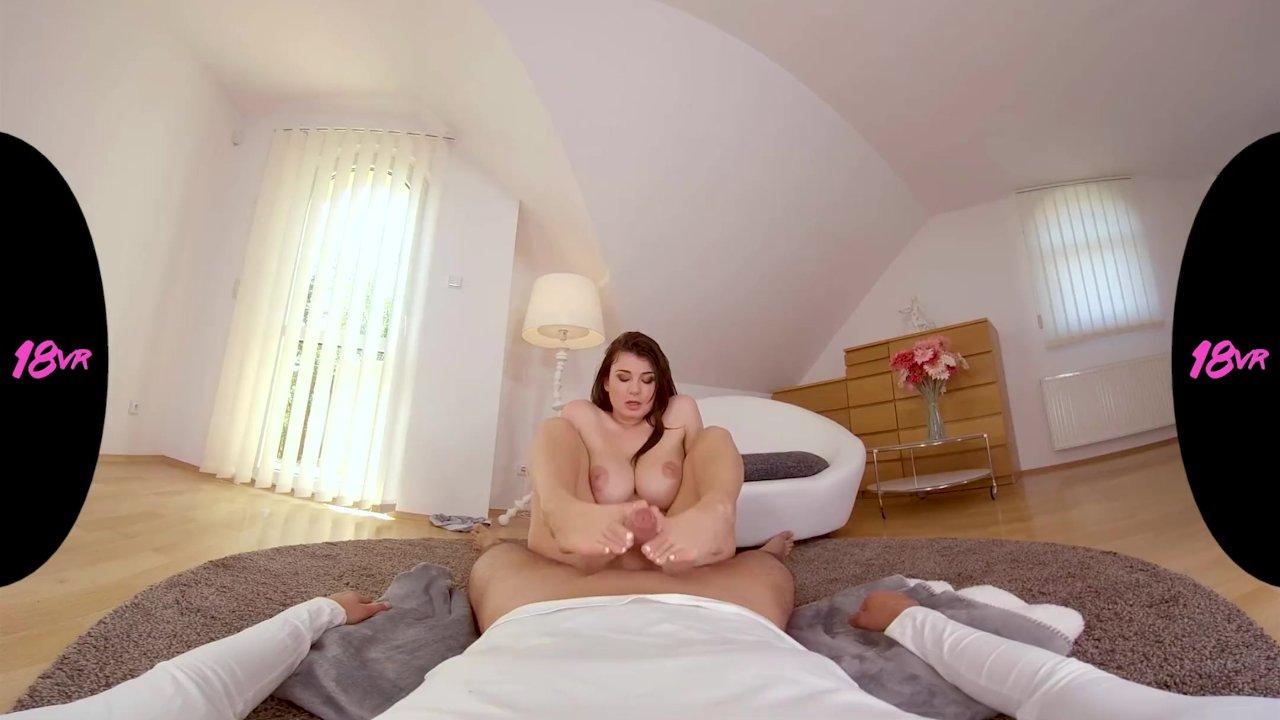 18VRcom Busty Teen Lucy Li Chooses Your Cock Over Sunbathing