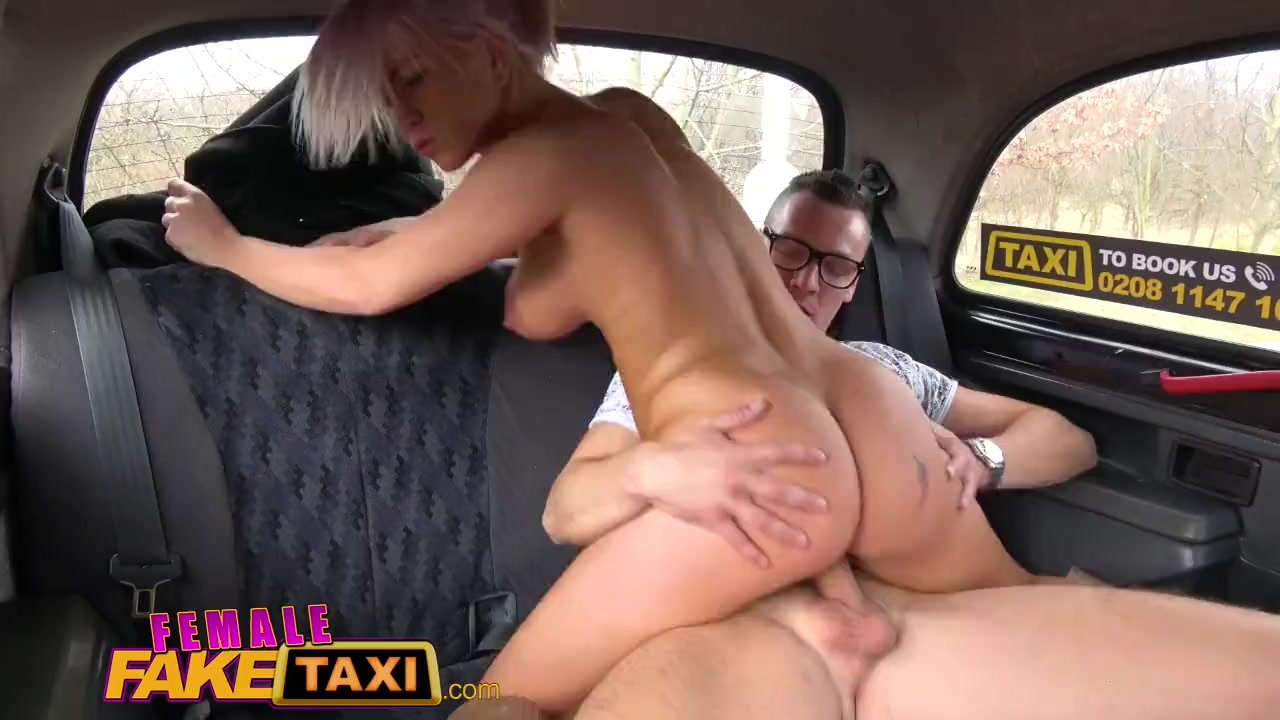 Female Fake Taxi Bored busty driver swaps fare for hot taxi fuck