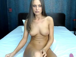Sexy tanned cam girl solo masturbation...