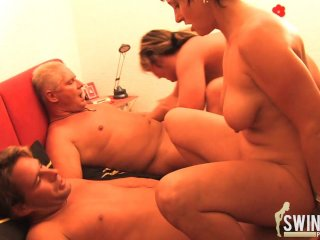 Groupsex with old housewives
