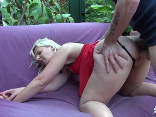 Lacochonne hardcore ass drilling for mature french amateur