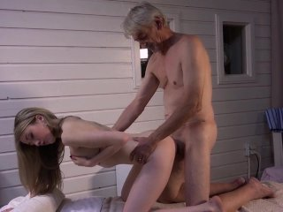 Old step dad wants cock massage fucked hard by cutie step daughter