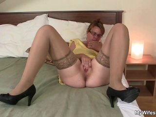 Her horny old snatch needs cock...