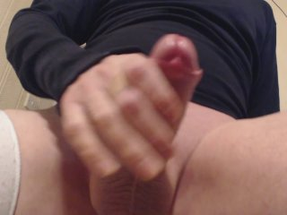 My solo 44 wanking aroused cock...