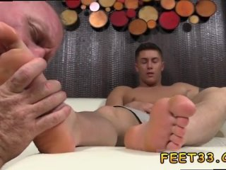 Foot old daddy dev worships...