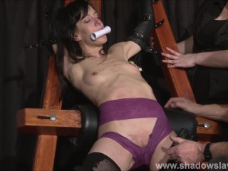 Extreme tit tormented and electro punished in hard bdsm...