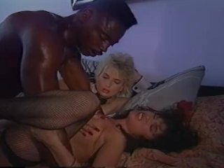 Black stallion and two horny girls