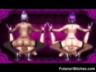 3D Futanari Twins Cum Inside Teens!