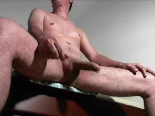 Jerking Big Uncut Cock Legs Wide