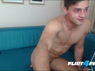 Boy Next Door Displays His Nice Uncut Cock