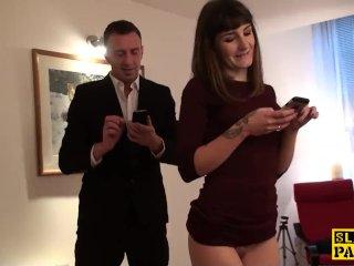 Fingerfucked sub slut punished by her maledom