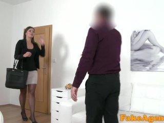 Fake Agent Brunette Milf Sucks And Fucks Agent On Casting Couch