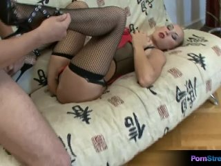 Dasha Loves To Use Her Feet To Massage A Man's Cock