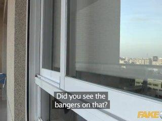 Fake Cop Cop cums on massive british tits