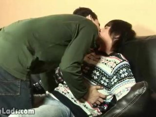 Adorable boy teases his pal up with tonguing his nipples