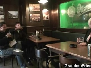 Two buddy prolong with an increment of fuck boozed granny