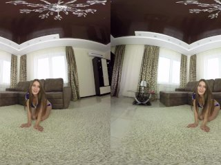 RealJamVR - Adorable gymnast plays with toy